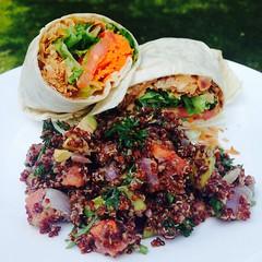 Coconut Bacon BLT Wrap and Quinoa Salad