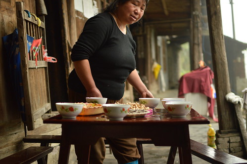 Serving the Fu Zhuan in a village in the country side