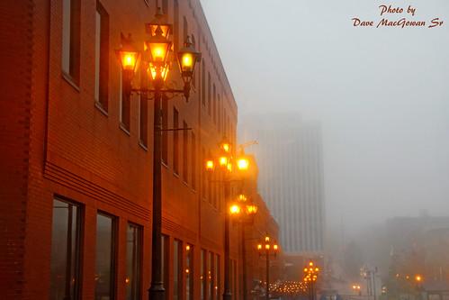 canada fog newbrunswick lamppost marketsquare saintjohn