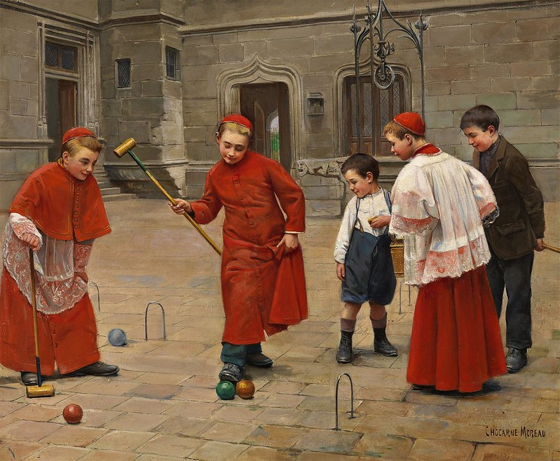 Paul Charles Chocarne-Moreau - Playing Croquet