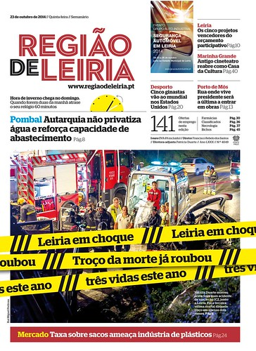 Capa Regiao de Leiria edição 4049 de 23 de outubro 2014.jpg