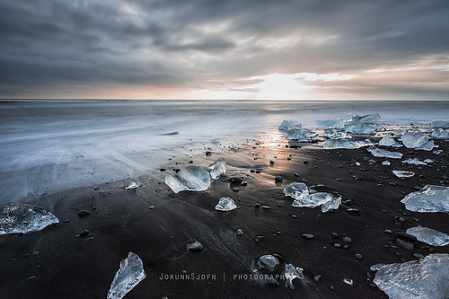 ocean morning sea sky black ice beach sunrise canon iceland sand waves crystal glacier le lee icy jökulsárlón glacial