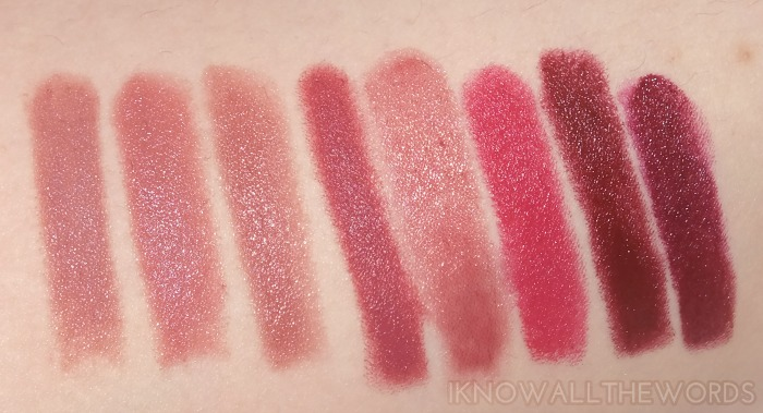 autumn lip love swatches