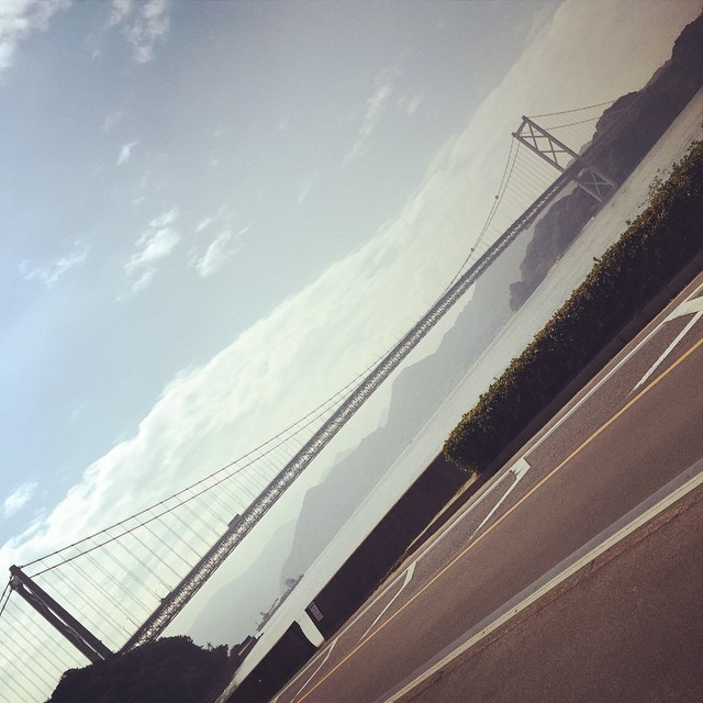 因島大橋見えた。