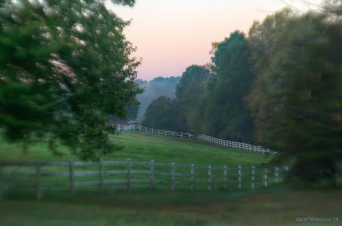 blur green sunrise fence nikon unitedstates northcarolina pasture shelby hdr morningwalk photomatix