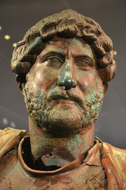 Bronze statue of Hadrian, found at the Camp of the Sixth Roman Legion in Tel Shalem, 117–138 AD, Israel Museum, Jerusalem