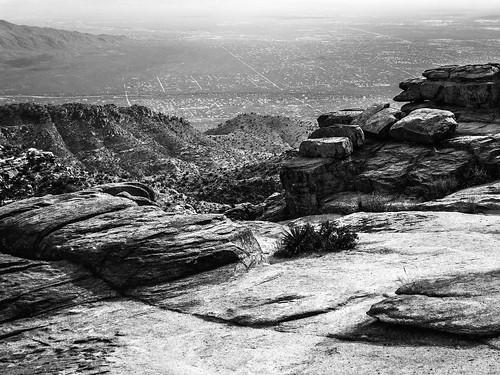 city arizona bw white black canon landscape rocks view unitedstates tucson powershot sonorandesert s100 santacatalinamountains mountlemmon desertsouthwest skyisland