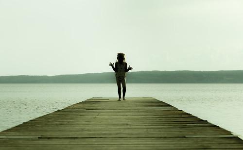 lake seascape girl silhouette female backlight pier sweden space bathing swimsuit copy canon5dmarkii matsanda bhalalhaika