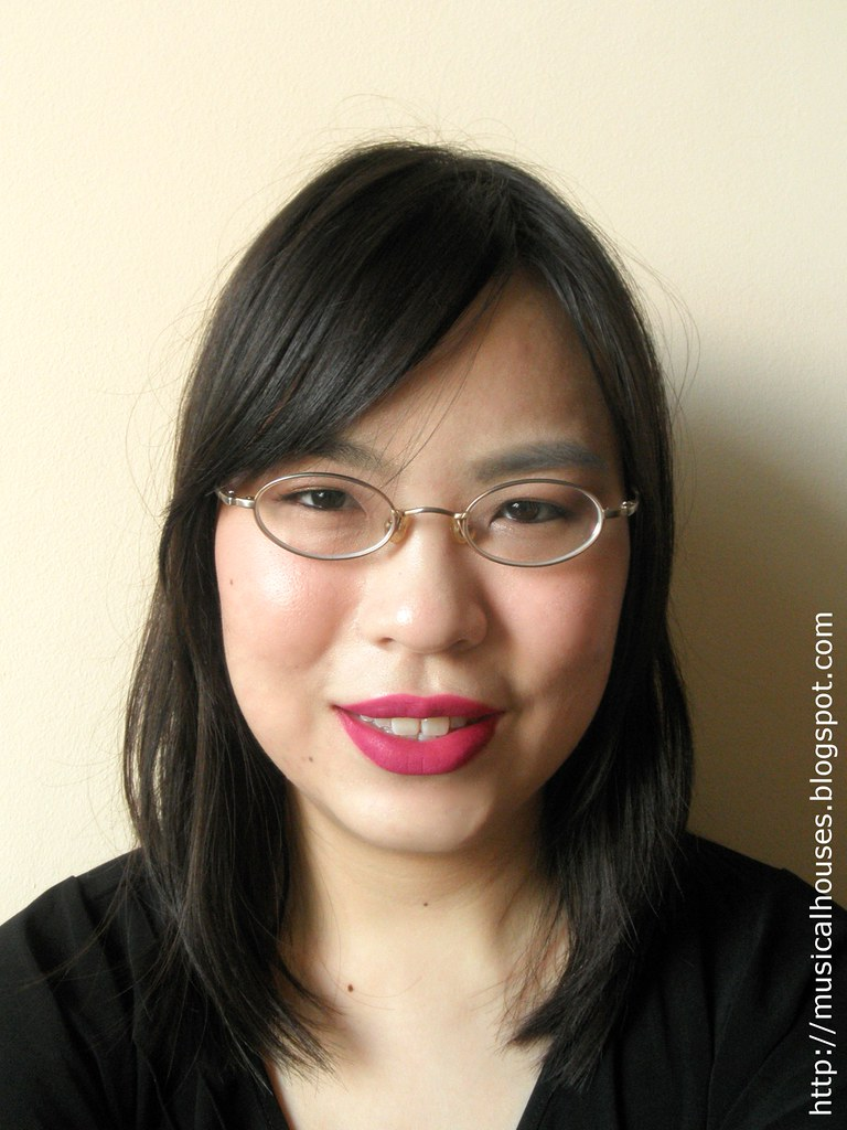 Etude House Color Lips Fit PP501 Brave Fit Berry FOTD