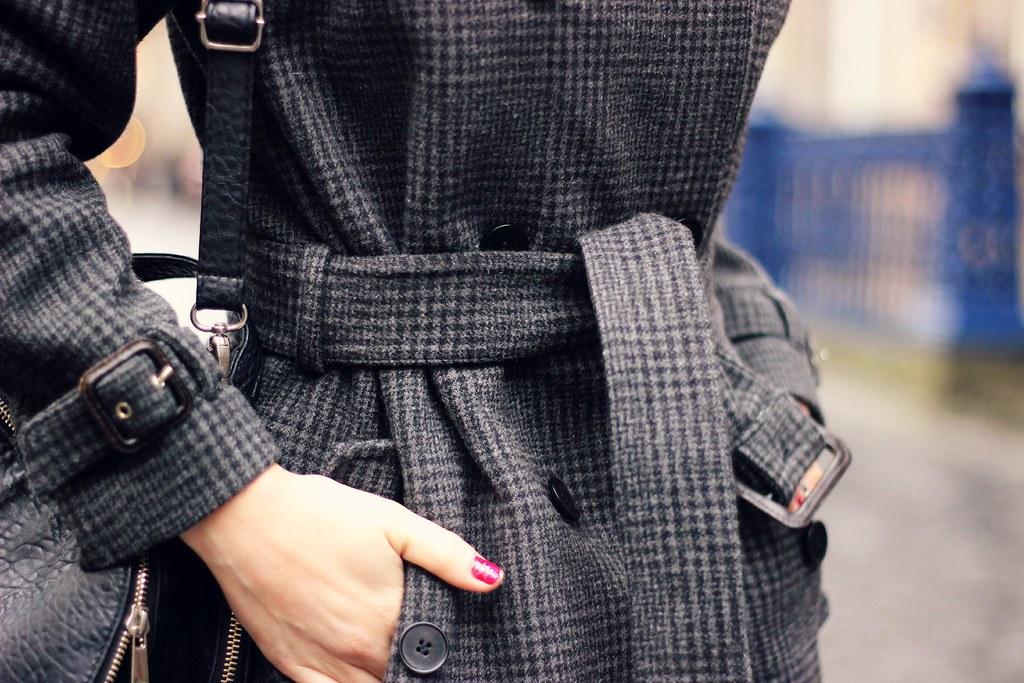 Gant Rugger grey check wool coat 7