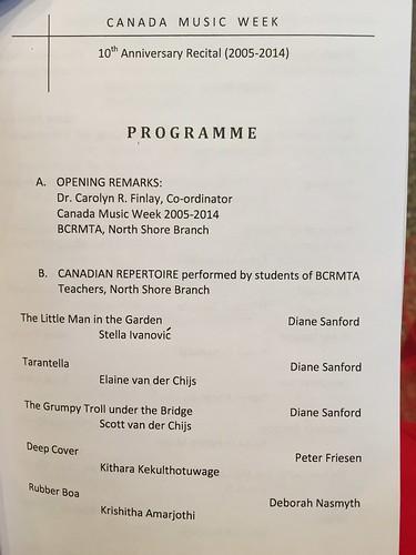 Canada Music Week program with Scott & Elaine!