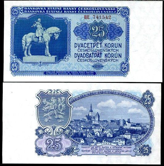 25 Kčs I. Dvadsaťpäť korún Československo 1953