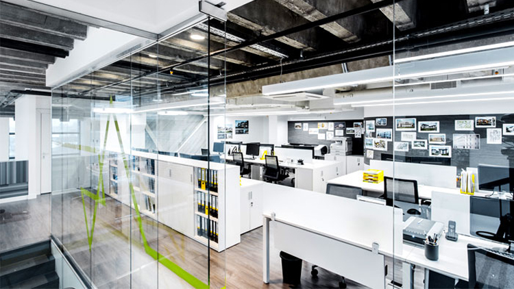 Không gian văn phòng hiện đại và sáng tạo