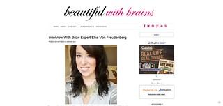 Interview With Brow Expert Elke Von Freudenberg   beautifulwithbrains.com