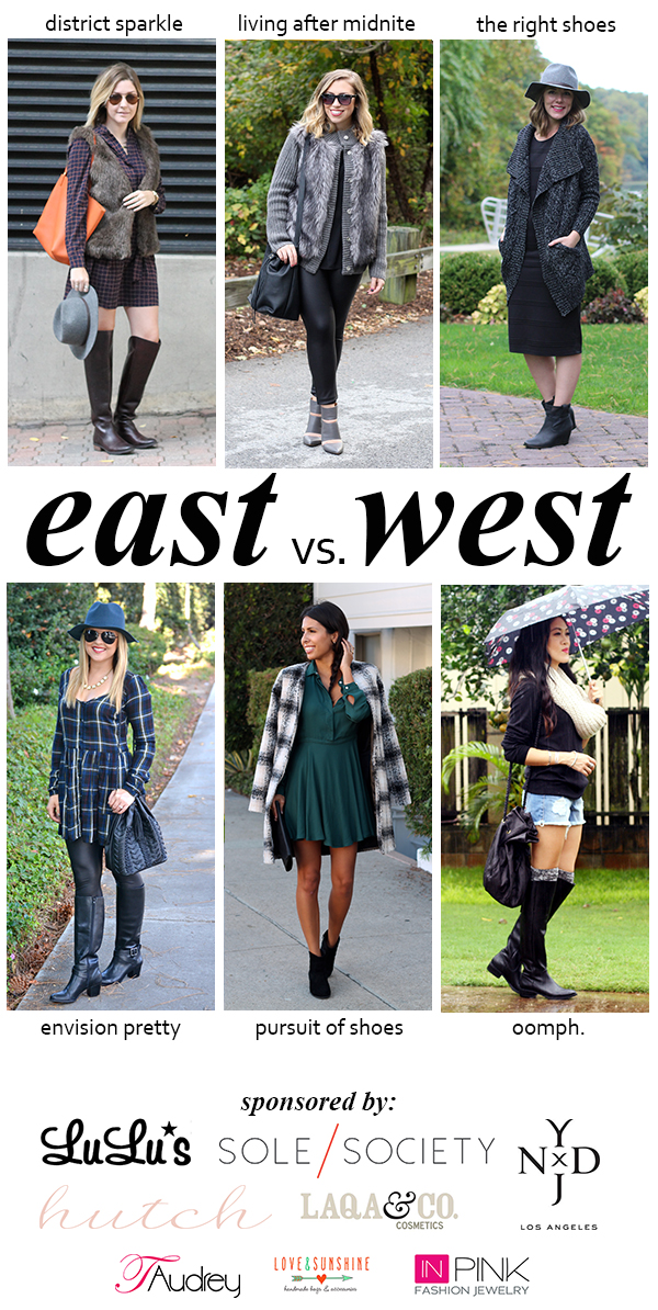 East vs West Style | Fall Booties | #LivingAfterMidnite