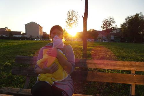Un caldo raggio di sole al #tramonto