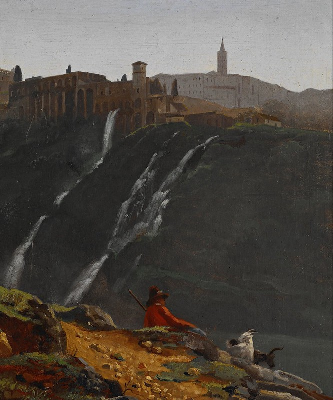 Achille Etna Michallon - Goatherd Opposite the Falls of Tivoli (c.1817)