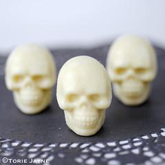 Handmade 3D chocolate skulls