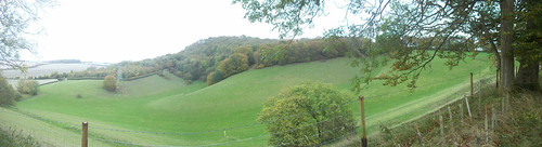 Panorama: the bit between Ladle Hill and Nuthanger Down