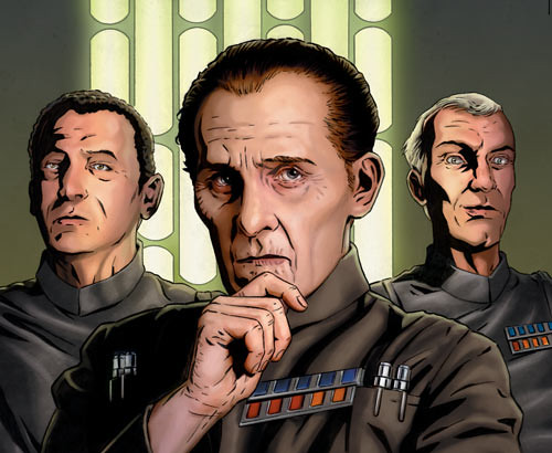 Moffs Wessex, Tarkin and Wessel  by Joe Corroney, Star Wars Insider 84