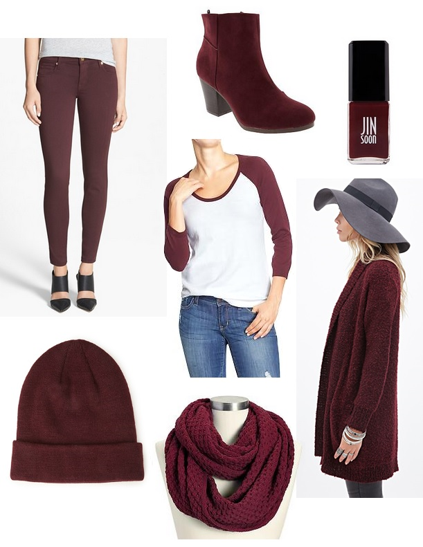 burgundy wine clothing