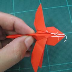 วิธีพับกระดาษเป็นรูปแมลงปอ (Origami Dragonfly) 022