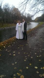 Officiella bröllopsbilder tas