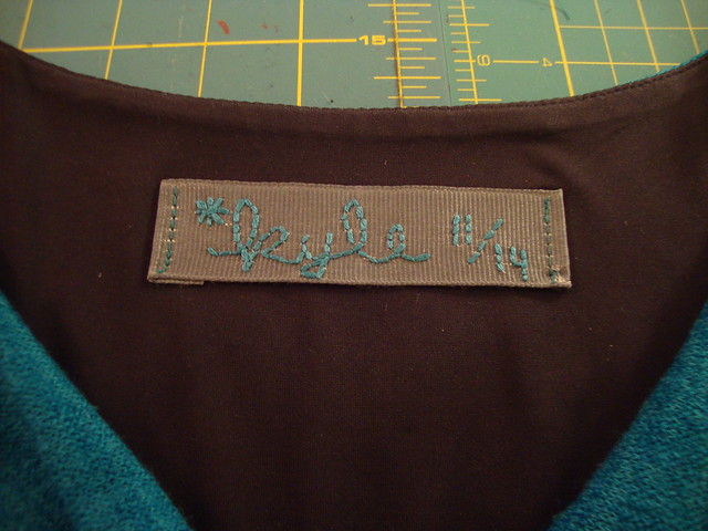 the label for my V1351 dress