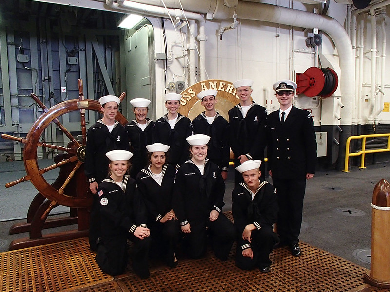 Petaluma Sea Scouts Aboard USS AMERICA (LHA-6)