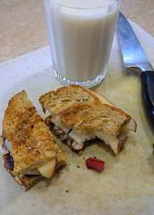 Grilled pear sandwich