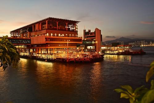 sunset reflection nightview sheungwan 堅尼地城 hongkongmacauferry eos60d 香港島中西區