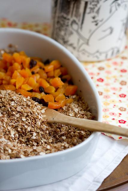 Home-made granola. Kodune krõbe müsli.