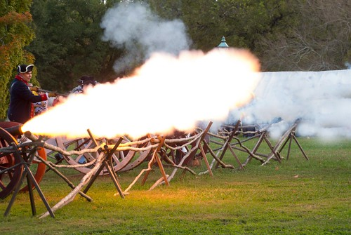 Cannon fire!  Colonial Williamsburg, Virginia