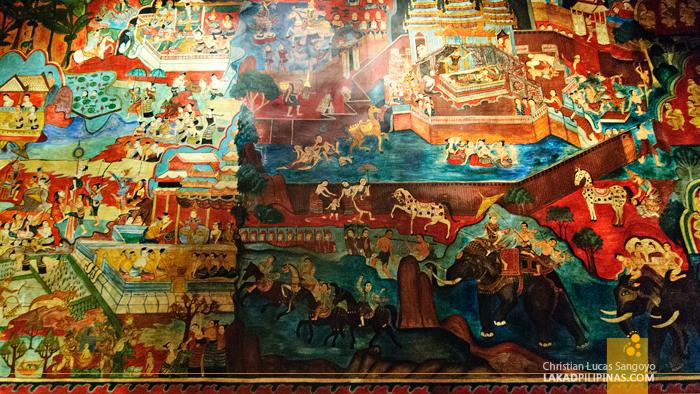 Mural Inside Lanna Folklife Museum in Chiang Mai