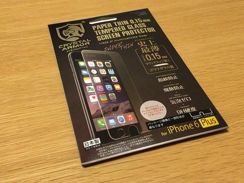 クリスタルアーマー® プレミアム強化ガラス for iPhone 6 Plus (0.15mm ゴリラガラス)_パッケージ