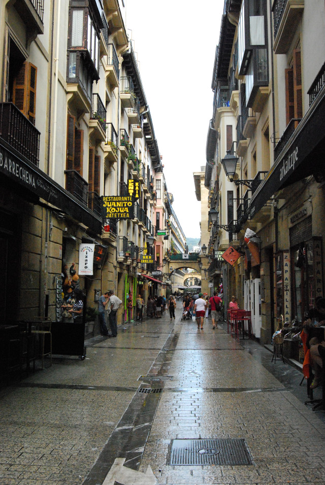 On the streets of San Sebastián