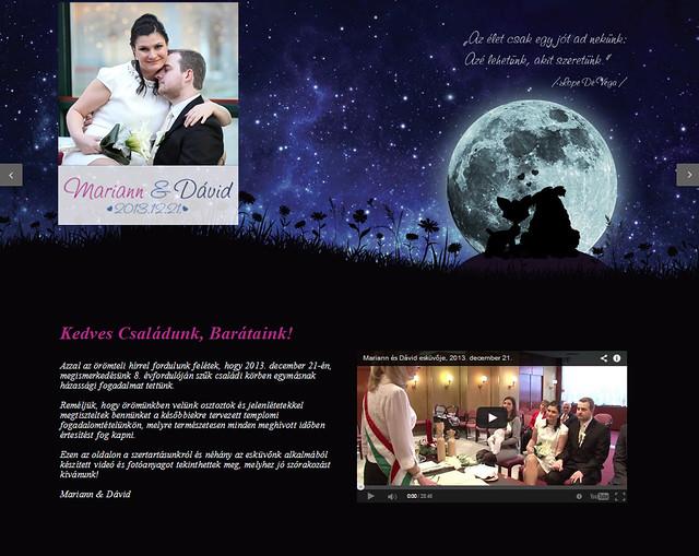 Esküvői weboldal