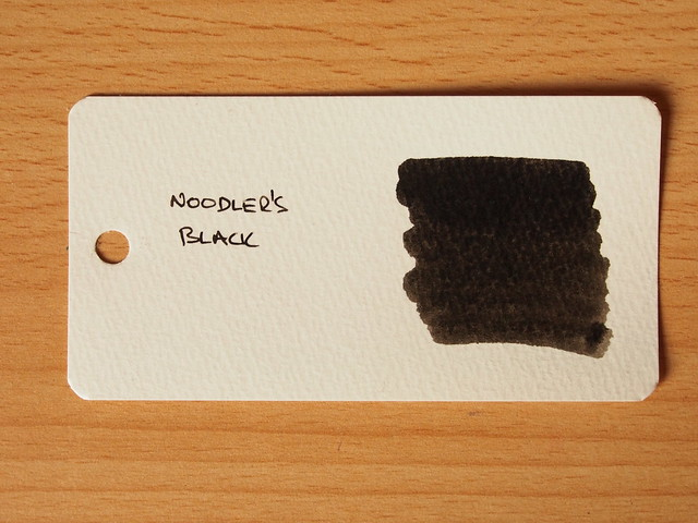 Noodler's Black - Word Card