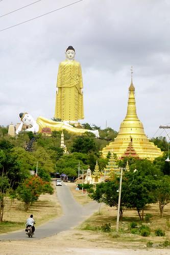 Classic view of Bodhi Tataung Monywa