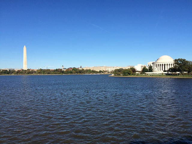 Washington Monument and Thomas Jefferson Memorial