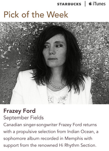 Starbucks iTunes Pick of the Week - Frazey Ford - September Fields