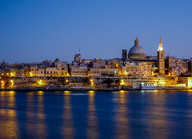 View from Sliema on Valletta, capital of Malta