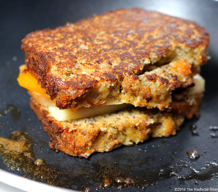 12 Grain Free Grilled Cheese Pear Sandwich recipe