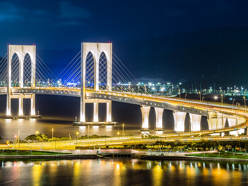 nightscape olympus nightview macau f18 夜景 omd nightscenes 澳門 75mm em5 saivanbridge 西灣大橋 pontedesaivan