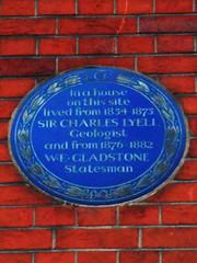 Photo of William Ewart Gladstone and Charles Lyell blue plaque