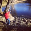 Throwing rocks! #ranchlife #nephewtime