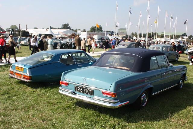 1963 Mercedes Benz 220 SE Convertible and 1972 Citroen SM