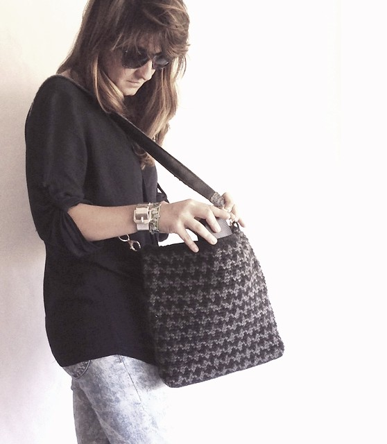 jacquard crochet bag urban style