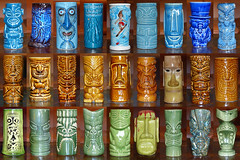 tiki mugs - colour-themed selection