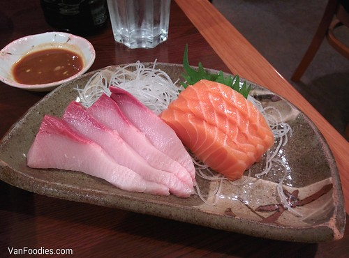 Hamachi Toro and Salmon
